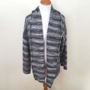 Joie Maisy Oversize Gray Open Cardigan Sweater